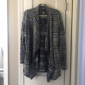 NEW Lucky Brand Patterned Cardigan